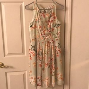 Dress Barn Green Floral Dress